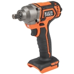Klein BAT20CW Battery-Operated Compact Impact Wrench, 1/2-Inch Detent Pin, Tool Only