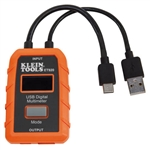 Klein ET920 USB Digital Meter, USB-A and USB-C