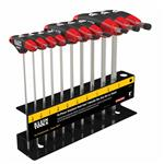 Klein Tools JTH610EB 10 pc 6'' (152 mm) SAE Ball-End Journeyman T-Handle Set with Stand