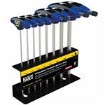 Klein Tools JTH98M 8 pc Metric Journeyman T- Handle Set with Stand