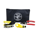 Klein VDV026-211 Coax Cable Installation Kit with Zipper Pouch