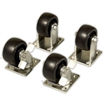 "495 Caster Set 4"" Heavy Duty by Knaack"