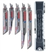 ​Lenox LXARCT5SET Carbide Tipped 5 Piece Reciprocating Saw Blade Kit