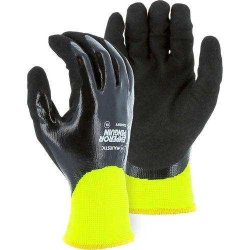 Majestic 3398DNY Emperor Penguin Winter Lined Nylon Glove with Closed-Cell Nitrile Dip Palm