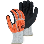 Majestic 35-5567 Winter Lined Cut-Less Watchdog Gloves with Foam Nitrile Palm and Impact Protection, ANSI CUT LEVEL A5