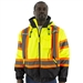 Majestic 75-1315 High Visibility Waterproof Jacket with Dot Striping and Quilted Liner, ANSI 3, R
