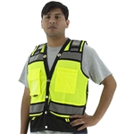 Majestic 75-3237 High Visibility Heavy Duty Surveyor's Vest with Contrasting Stripes, ANSI 2, R