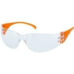 Majestic 85-1002CRA Crosswind Safety Glasses with Clear Anti-Fog Lens with Orange Temples