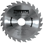 Makita 721005-A 3-3/8 in. 24T Carbide-Tipped Circular Saw Blade, General Purpose