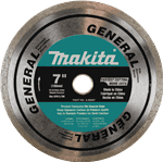 "Makita A-95087 7"" Diamond Blade, Continuous Rim, General Purpose"