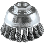 Makita A-98435 2-3/4 in. Knot Wire Cup Brush Stainless, 5-8 - 11 in.