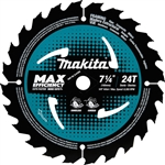 Makita B-61656 7-1/4 in. 24T Carbide-Tipped Max Efficiency Circular Saw Blade, Framing