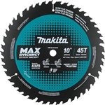 Makita B-62103 10 in. 45T Carbide-Tipped Max Efficiency Miter Saw Blade