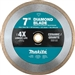 Makita B-69571 7 in. Diamond Blade, Continuous Rim, General Purpose