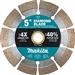 Makita B-69618 5 in. Diamond Blade, Segmented, General Purpose