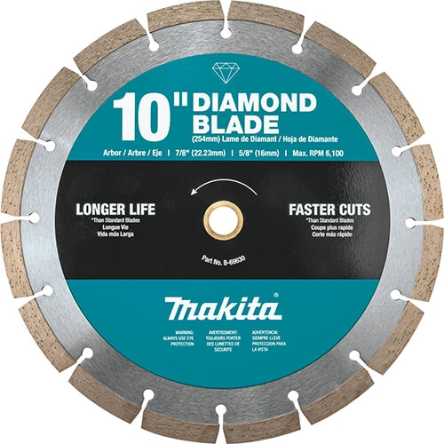 Makita B-69630 10 in. Diamond Blade, Segmented, General Purpose