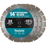 Makita B-69646 14 in. Diamond Blade, Segmented, General Purpose, Contractor 3pk