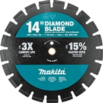 Makita B-69674 14 in. Diamond Blade, Segmented, Dual Purpose