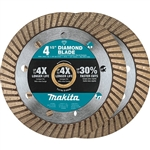 Makita B-69705 4-1/2 in. Diamond Blade, Turbo, General Purpose, 2 Pack