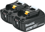Makita Tools BL1830B-2 18V Lxt Lithium-Ion Battery, 2 Pack
