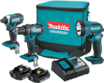 Makita CT320R 18V LXT Lithium-Ion Compact Cordless 3-Pc. Combo Kit (2.0Ah)
