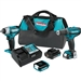 Makita CT323 12V MAX CXT Lithium‑Ion Cordless 3‑Pc. Combo Kit (1.5Ah)