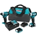 Makita CT324 12V max CXT Lithium‑Ion Cordless 3‑Pc. Combo Kit (1.5Ah)