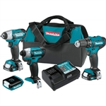 Makita CT411 12V MAX CXT Cordless 4 pc. Combo Kit 1.5 Ah