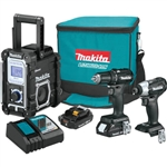 Makita CX301RB 18V Cordless 3 Piece Combo Kit