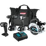 Makita CX401SYB 18V LXT Lithium Ion Sub Compact Brushless Cordless 4‑Pc. Combo Kit (1.5Ah)