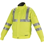 Makita DFJ214ZL 18V LXT Lithium Ion Cordless High Visibility Fan Jacket, Jacket Only L