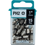 Makita E-00664 Impact XPS Number 2 Phillips 1 in. Insert Bit 15pk