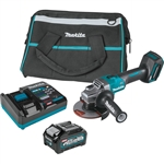 Makita GAG01M1 40V max XGT Brushless Cordless 4-1/2 in. / 5 in. Angle Grinder Kit, with Electric Brake (4.0Ah)