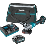 Makita GAG03M1 40V max XGT Brushless Cordless 4-1/2 in. / 5 in. Paddle Switch Angle Grinder Kit, with Electric Brake (4.0Ah)