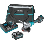 Makita GAG04M1 40V max XGT Brushless Cordless 4-1/2 in. / 5 in. Angle Grinder Kit, with Electric Brake, AWS Capable (4.0Ah)