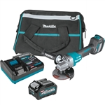 Makita GAG06M1 40V max XGT Brushless Cordless 4-1/2 in. / 5 in. Paddle Switch Angle Grinder Kit, with Electric Brake, AWS Capable (4.0Ah)