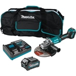 Makita GAG10M1 40V max XGT Brushless Cordless 7 in. / 9 in. Paddle Switch Angle Grinder Kit, with Electric Brake, AWS Capable (4.0Ah)