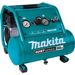 Makita MAC210Q Quiet Series, 1 HP, 2 Gallon, Oil Free, Electric Air Compressor