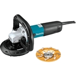 Makita PC5010CX1 5 in. SJS II Compact Concrete Planer with Dust Extraction Shroud and Diamond Cup Wheel
