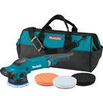 Makita PO5000CX2 5 in. Random Orbit Polisher​ with 3 Foam Pads