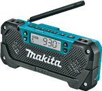 Makita RM02 12V max CXT™ Lithium-Ion Cordless Compact Job Site Radio, Tool Only