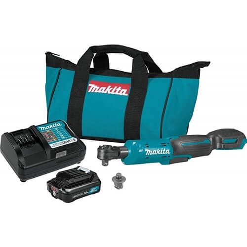 Makita RW01R1 12V Max CXT Lithium-Ion Cordless 3/8 in./1/4 in. Sq. Drive Ratchet Kit (2.0Ah)