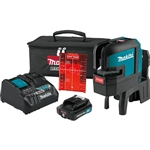 Makita SK106DNAX 12V MAX CXT Lithium Ion Cordless Self Leveling Cross Line 4 Point Red Beam Laser Kit 2.0Ah