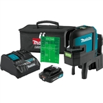 Makita SK106GDNAX 12V MAX CXT Lithium‑Ion Cordless Self‑Leveling Cross‑Line/4‑Point Green Beam Laser Kit 2.0Ah