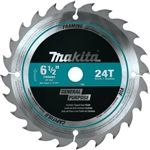 Makita T-01404 6 1-2 in. 24T Carbide Tipped Circular Saw Blade, Framing