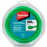 Makita T-03866 Twisted Trimmer Line, 0.080 in., Green, 175 ft., 1/2 lbs.
