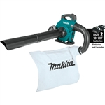 Makita XBU04ZV 18V X2 (36V) LXT Lithium‑Ion Brushless Cordless Blower with Vacuum Attachment Kit, Tool Only