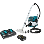 Makita XCV04PT 18V X2 LXT Lithium Ion 36V Cordless/Corded 2.1 Gallon HEPA Filter Dry Dust Extractor/Vacuum Kit 5.0Ah