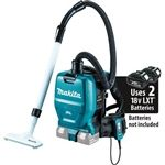 Makita 18V X2 LXT� Lithium-Ion (36V) Brushless Cordless 1/2 Gallon HEPA Filter Backpack Dry Vacuum, Tool Only