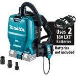 Makita XCV05ZX 18V X2 LXT Lithium‑Ion (36V) Brushless Cordless 1/2 Gallon HEPA Filter Backpack Dry Dust Extractor/Vacuum w/ Adapters, Tool Only